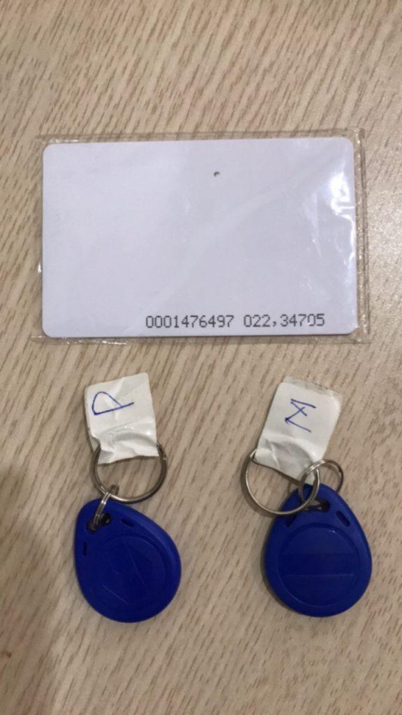 thẻ kiểm soát thang máy