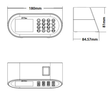 Kích thước máy chấm công để bàn D1S