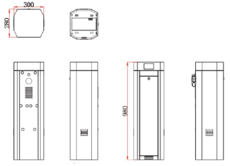 Kích thước barrier tự động ZKteco