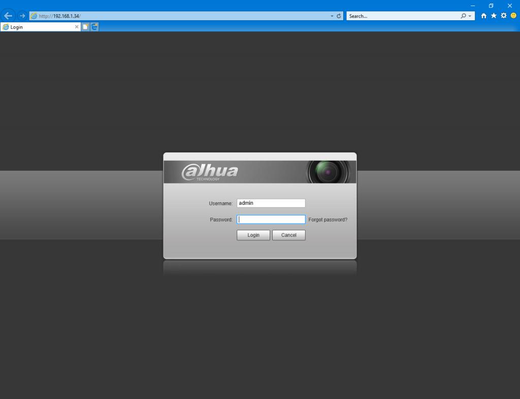 Giao diện quản lý camera qua địa chỉ IP - hướng dẫn kết nối camera wifi Dahua