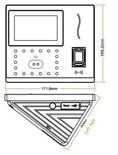 Kích thước Zkteco G3