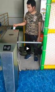 lắp đặt cổng xoay tích hợp kiểm soát nuốt thẻ tại Bắc Ninh