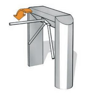 Cổng xoay 3 càng Kaba TPB-E02