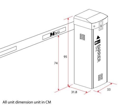 Kích thước barrier Magnet