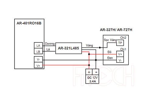 Sơ đồ đấu nối AR-727H