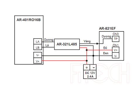 Sơ đồ đấu nối AR-821EF