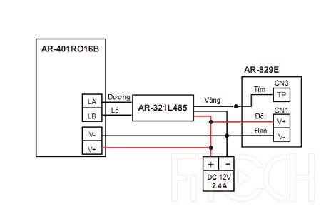 Sơ đồ đấu nối AR-829E